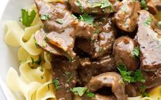 Beef Stroganoff is the ultimate comfort food! Learn how to make a simple and quick beef stroganoff that is so delicious to serve of buttered egg noodles. Minestrone Soup Slow Cooker, Slow Cooker Soup, Slow Cooker Recipes, Cooking Recipes, Food Test, Comfort Food, Beef Stroganoff, Beef Dishes, Greek Recipes