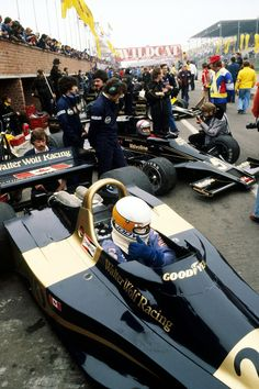 Jody Scheckter (Wolf-Ford WR3), Mario Andretti (Lotus-Ford 78) & Gunnar Nilsson (Lotus-Ford 78), 1977 Belgian GP. Zolder