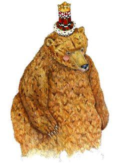 Bear Print, illustration King Norman,