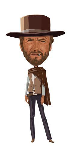 Clint: A Fistful of Dollars by Mitch Frey, via Behance Clint Eastwood, Eastwood Movies, Illustration, Pop Culture, Pop Art, Concept Art, Cinema, Actors, Film