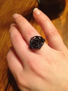 Hey, I found this really awesome Etsy listing at https://www.etsy.com/listing/184348914/black-wire-rose