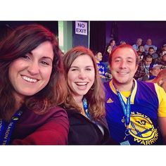 A generic, somewhat poorly taken selfie at our first Warriors game ever (not Casey's first, he is generously sharing his season tickets with his culturally deprived housemates).