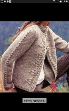 Knitting, Crocheting And Other Needle Crafts Knit Cardigan Pattern, Crochet Cardigan, Knit Crochet, Clothing Patterns, Knitting Patterns, Knitted Coat, Knitwear Fashion, Knitting Accessories, Easy Knitting