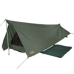 Part of the Sahara Platinum canvas range. The Rover is one of the most versatile and best built Apex swags on the market. Sahara platinum range features include premium grade heavy duty polycotton waterproof canvas, tough and superfine sandfly a Backpacking Tent, Bushcraft Camping, Camping Survival, Survival Prepping, Survival Skills, Emergency Preparedness, Survival Gear, Camping Swag, Outdoor Camping