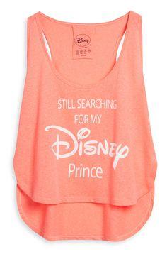 Camiseta corta color coral de Disney