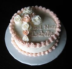 Chocolate Cake with Vanilla Buttercream Gum paste roses