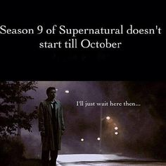"""hahaha I loved it when Cas did this.  """"I'll just wait here then..."""""""