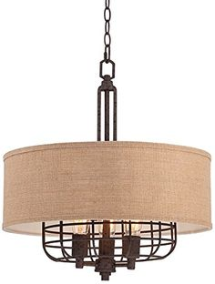 Franklin Iron Works Tremont 20 Wide Rust Pendant Check This Awesome Product By Going To The Link At Image Harper House Fixer Upper Lighting