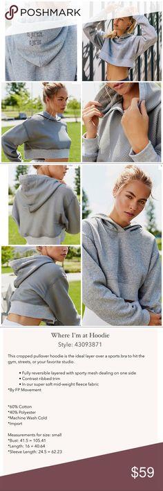 ❤️FREE PEOPLE REVERSIBLE HOODIE ◾️FREE PEOPLE CROPPED HOODIE •REVERSIBLE 💫 Free People Tops Sweatshirts & Hoodies