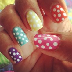 luv the easter nails! Cute Spring Nails, Summer Nails, Nail Polish Designs, Cute Nail Designs, Super Cute Nails, Pretty Nails, Hair And Nails, My Nails, Adele