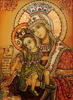 Maica Domnului cu Pruncul ---  Sfântul Nicolae Velimirovici, Rugăciuni pe malul lacului (Rugăciunea a XII-a )