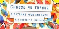 Chasse au trésor automne pour enfants – KIT gratuit à imprimer