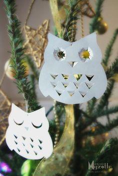 Owl white paper - Chouette en papier blanc