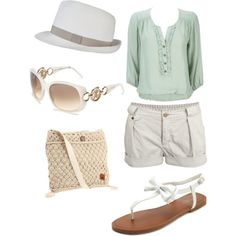 white summer outfit - polyvore