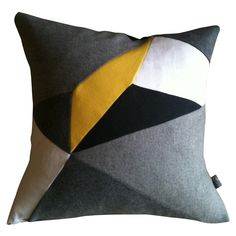 Love this gorgeous geo cushion by igloo home, designed and made by a girlfriend of mine Elizabeth McCormack! Igloo House, Cushion Cover Designs, Cushion Covers, White Canary, Black White, Geometric Shapes, Geometric Designs, Beautiful Color Combinations, Modern Design