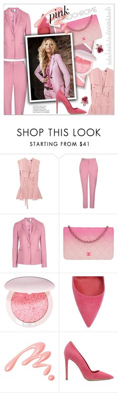 """Untitled #96"" by erihiro ❤ liked on Polyvore featuring Etro, Topshop, Marc Jacobs, Chanel, Guerlain, Dee Keller, Chantecaille, Betsey Johnson, monochrome and Suits"