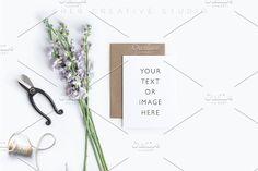 Card Mockup Styled Stock Photograph. Wedding Card Templates