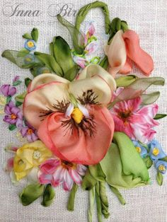 Wonderful Ribbon Embroidery Flowers by Hand Ideas. Enchanting Ribbon Embroidery Flowers by Hand Ideas. Ribbon Embroidery Tutorial, Rose Embroidery, Silk Ribbon Embroidery, Hand Embroidery Patterns, Embroidery Stitches, Embroidery Designs, Embroidery Thread, Embroidery Supplies, Eyebrow Embroidery