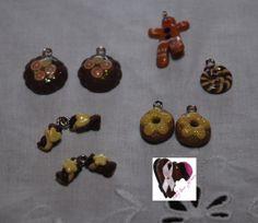Estos charms dulces o sweets, están realizados en arcilla polimérica.