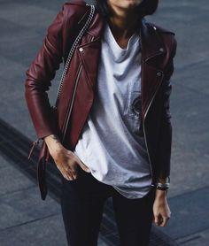 fashion ideas the leather jacket