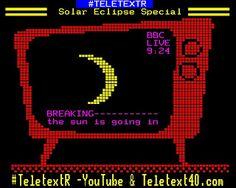 TeletextR: Teletext Live Solar Eclipse by Carlos