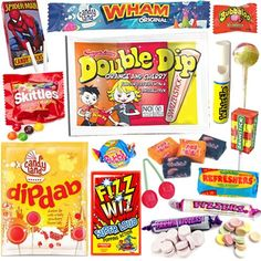 Amazon.com : 80s Retro Sweet & Candy Gift Box - Perfect Affordable Gift For Any Occasion With An Amazing Selection - Letterbox Friendly : Grocery & Gourmet Food