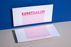 """Brand Identity for KunstSalon Köln by Formdusche  """"KunstSalon is a private initiative to promote arts and culture. The uniqueness of KS is its interdisciplinary focus: visual arts, drama, literature, music, dance and film.""""  Formdusche is a design..."""