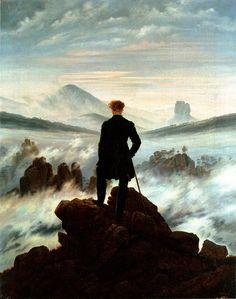 """Wanderer above the Sea of Fog"" Painted by Caspar David Friedrich (1818)"