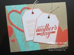 """Framed Love"" April 2014 Paper Pumpkin Kit Mother's Day Card (Join my Paper Pumpkin Online Club!)… Stampin' Up!® - Stamp Your Art Out! www.s..."