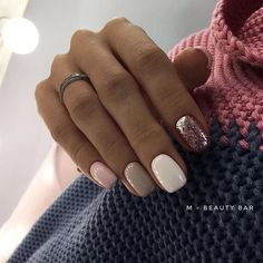 What Christmas manicure to choose for a festive mood - My Nails Spring Nails, Winter Nails, Fall Nails, Acrylic Nails Autumn, Trendy Nails, Cute Nails, Hair And Nails, My Nails, Nagellack Trends