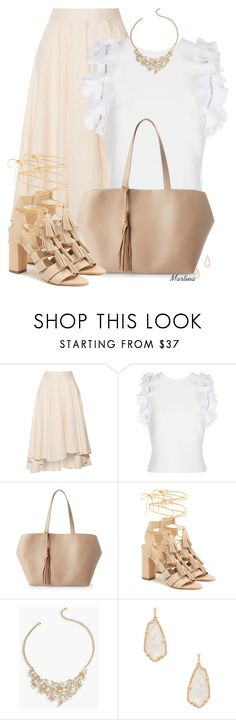 """Bez naslova #3100"" by martina-cciv ❤ liked on Polyvore featuring Miguelina, 3.1 Phillip Lim, Street Level, Loeffler Randall, Talbots and Kendra Scott"