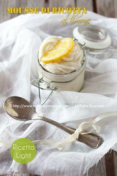 Mousse di ricotta al limone