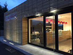 Wood façade, okoumé
