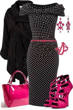 Black,white And Pink Outfits Ideas For Ladies…. - Click for More...