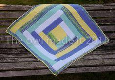 Hand knitted baby blanket cot blanket pram blanket by TheOwlmadeit