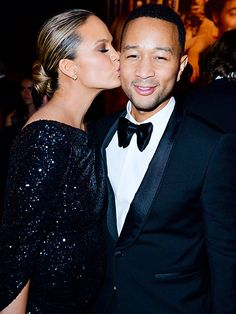And the Award for Best Oscars Afterpartiers Goes to ... | CHRISSY TEIGEN & JOHN LEGEND | at the Vanity Fair party.