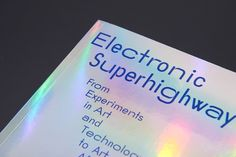 Digital into analogue: Julia designs the catalogue for internet art show Electronic Superhighway