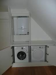 Small Utility Room, Small Laundry Rooms, Laundry Room Design, Attic Loft, Loft Room, Laundy Room, Downstairs Loo, T Home, Sleeping Loft