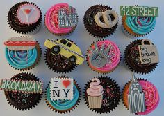 NYC themed cupcakes