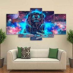 Superior NEBULA LION CONSTELLATION WALL ART