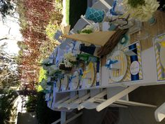 Ahoy it's a Boy! Nautical themed baby shower for my best friend. Designed by me