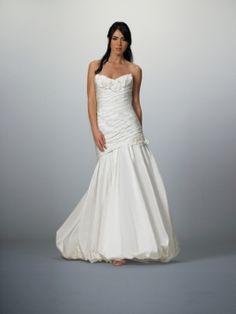 Tess-Robe de Mariée en Taffetas avec Fleurs