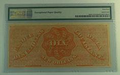 US Bill Obsolete: Dix Note. 1860's $10 Louisiana, New Orleans