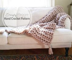 How to Hand Crochet a Chunky Blanket