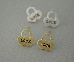 Unique and Adorable stud earrings. Suitable for every party or costume,easy to match also it can as a gift to your friends, lover, family...  Size/Dimensions/Weight the lock pendant measures approx. 1
