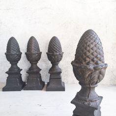 One vintage heavy cast iron acorn or pineapple by romaarellano