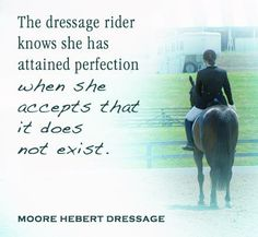 The Dressage rider...or maybe another way to look at this is to know that we are all already perfect..(Landmark)