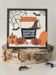 Sneak Peek Merry Cafe #Spooky Night DSP# Stampin'Up!