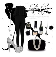 """""""Girls Night Out"""" by brokeshopaholicsc on Polyvore featuring Boohoo, Bulgari, NARS Cosmetics, Chanel and Michael Aram"""