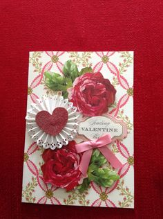 Valentine's Day card - Anna Griffin roses, card